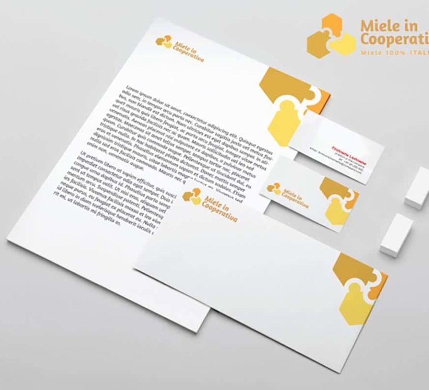 Idea di immagine coordinata per Miele in Cooperativa