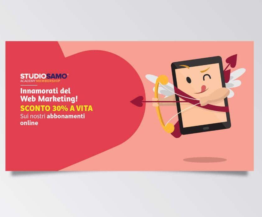 Campagne advertising Academy Membeship per San Valentino di Studio Samo – Facebook Ads