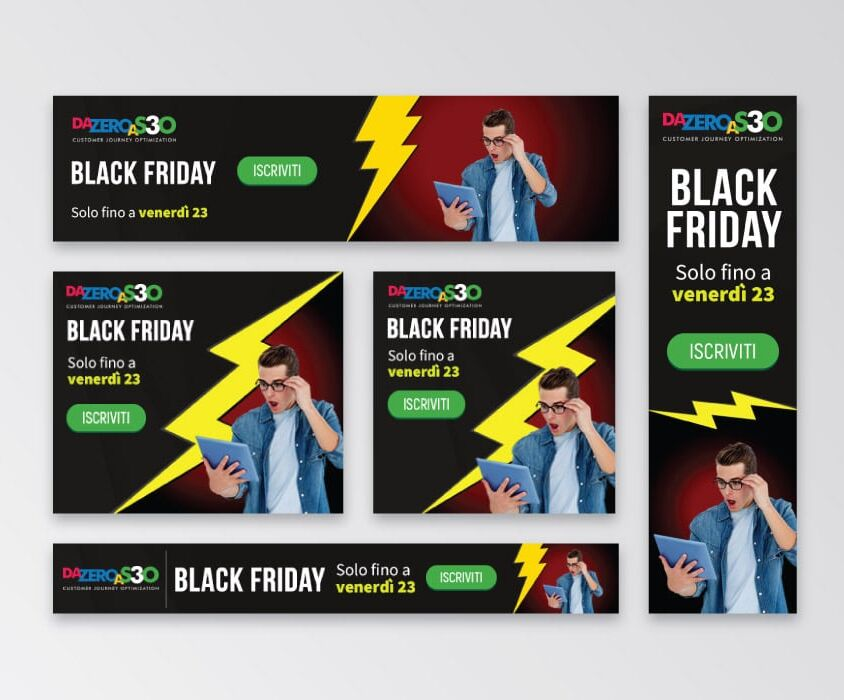 Campagne advertising Da Zero A Seo 3 per Black Friday di Studio Samo – Google Ads