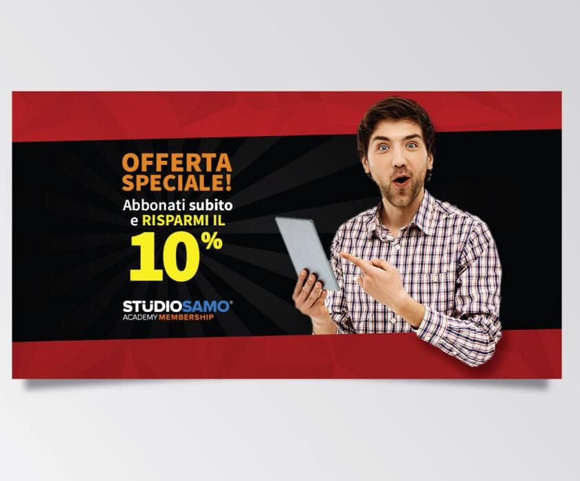 Campagne advertising Academy Membership per Black Friday di Studio Samo – Facebook Ads
