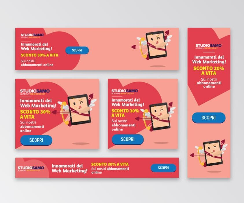 Campagne advertising Academy Membeship per San Valentino di Studio Samo – Google Ads