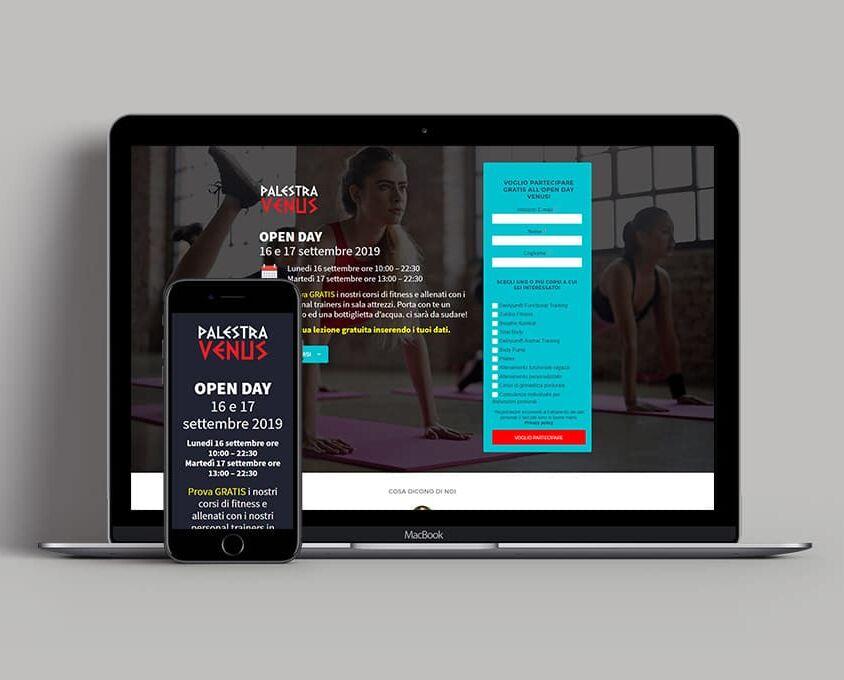 Landing Page per Venus Fitness Boutique